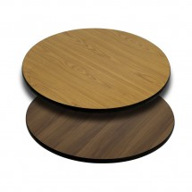Flash Furniture XU-RD-30-WNT-GG Round Table Top with Natural or Walnut Reversible Laminate Top 30""