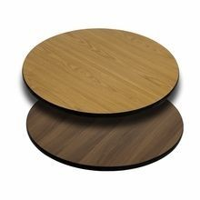 """Flash Furniture XU-RD-30-WNT-GG Round Table Top with Natural or Walnut Reversible Laminate Top 30"""""""