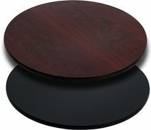 """Flash Furniture XU-RD-36-MBT-GG Round Table Top with Black or Mahogany Reversible Laminate Top 36"""""""
