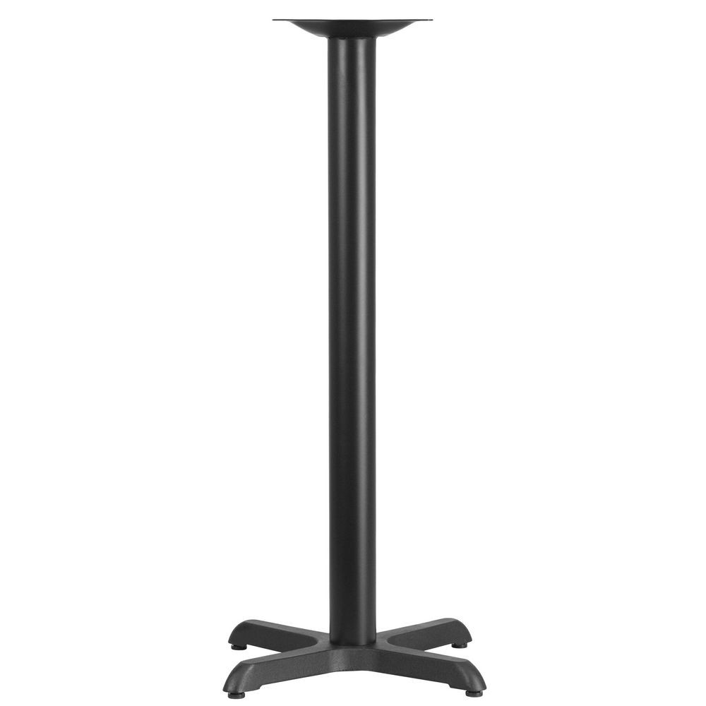 "Flash Furniture XU-T2222-BAR-GG Restaurant Table X-Base with 3"" Dia. Bar Height Column 22"" x 22"""