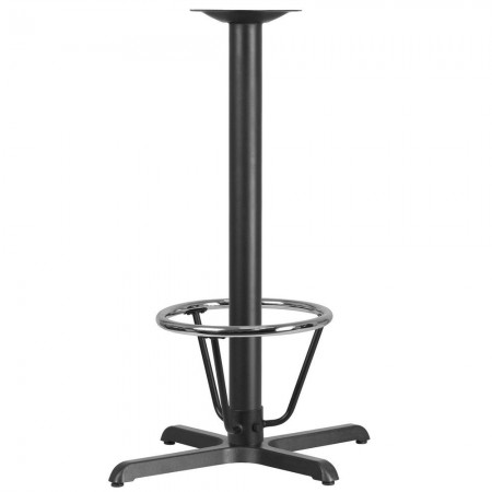 "Flash Furniture XU-T2230-BAR-3CFR-GG 22"" x 30"" Restaurant Table X-Base with 3"" Dia. Bar Height Column and Foot Ring"