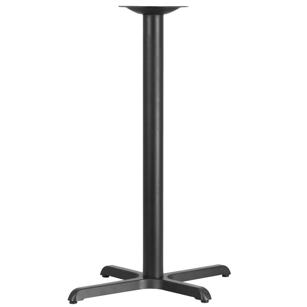 Flash Furniture XU-T2230-BAR-GG 22'' x 30'' Restaurant Table X-Base with 3'' Dia. Bar Height Column
