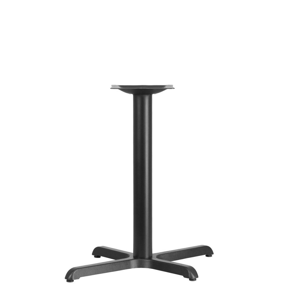 Flash Furniture XU-T2230-GG 22'' x 30'' Restaurant Table X-Base with 3'' Dia. Table Height Column