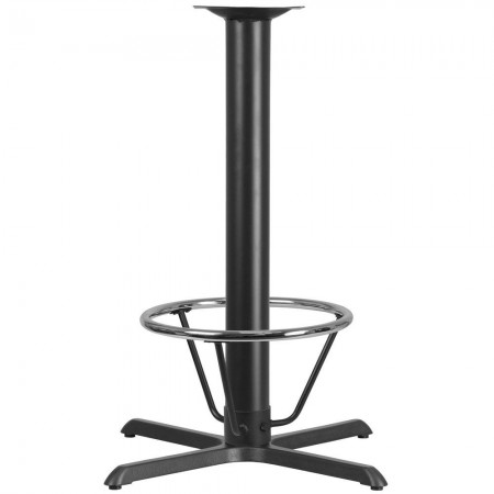 "Flash Furniture XU-T3333-BAR-4CFR-GG 33"" x 33"" Restaurant Table X-Base with 4"" Dia. Bar Height Column and Foot Ring"