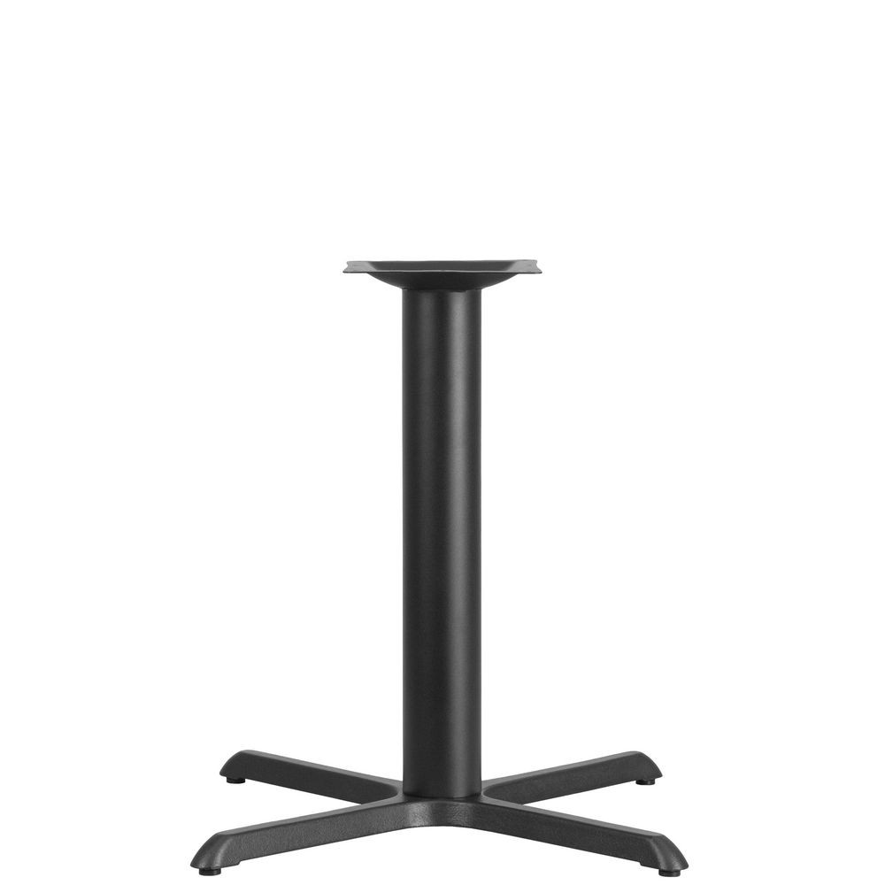 Flash Furniture XU-T3333-GG 33'' x 33'' Restaurant Table X-Base with 4'' Dia. Table Height Column