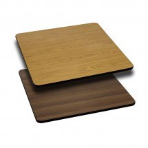 Flash Furniture XU-WNT-2424-GG Square Table Top with Natural or Walnut Reversible Laminate Top 24""