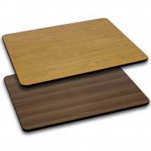 "Flash Furniture XU-WNT-3048-GG Rectangular Table Top with Natural or Walnut Reversible Laminate Top 30"" x 48"""