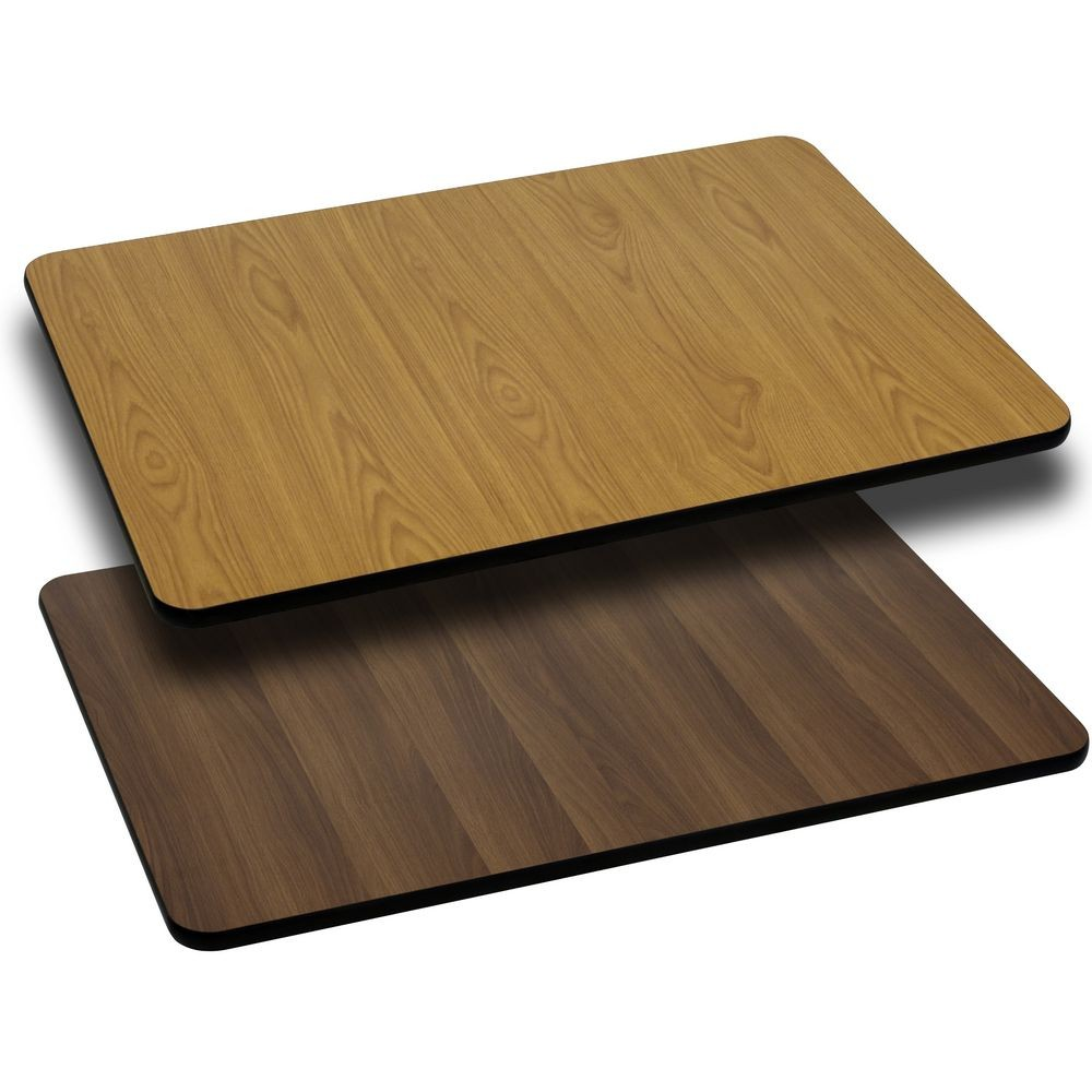 "Flash Furniture XU-WNT-3060-GG Rectangular Table Top with Natural or Walnut Reversible Laminate Top 30"" x 60"""