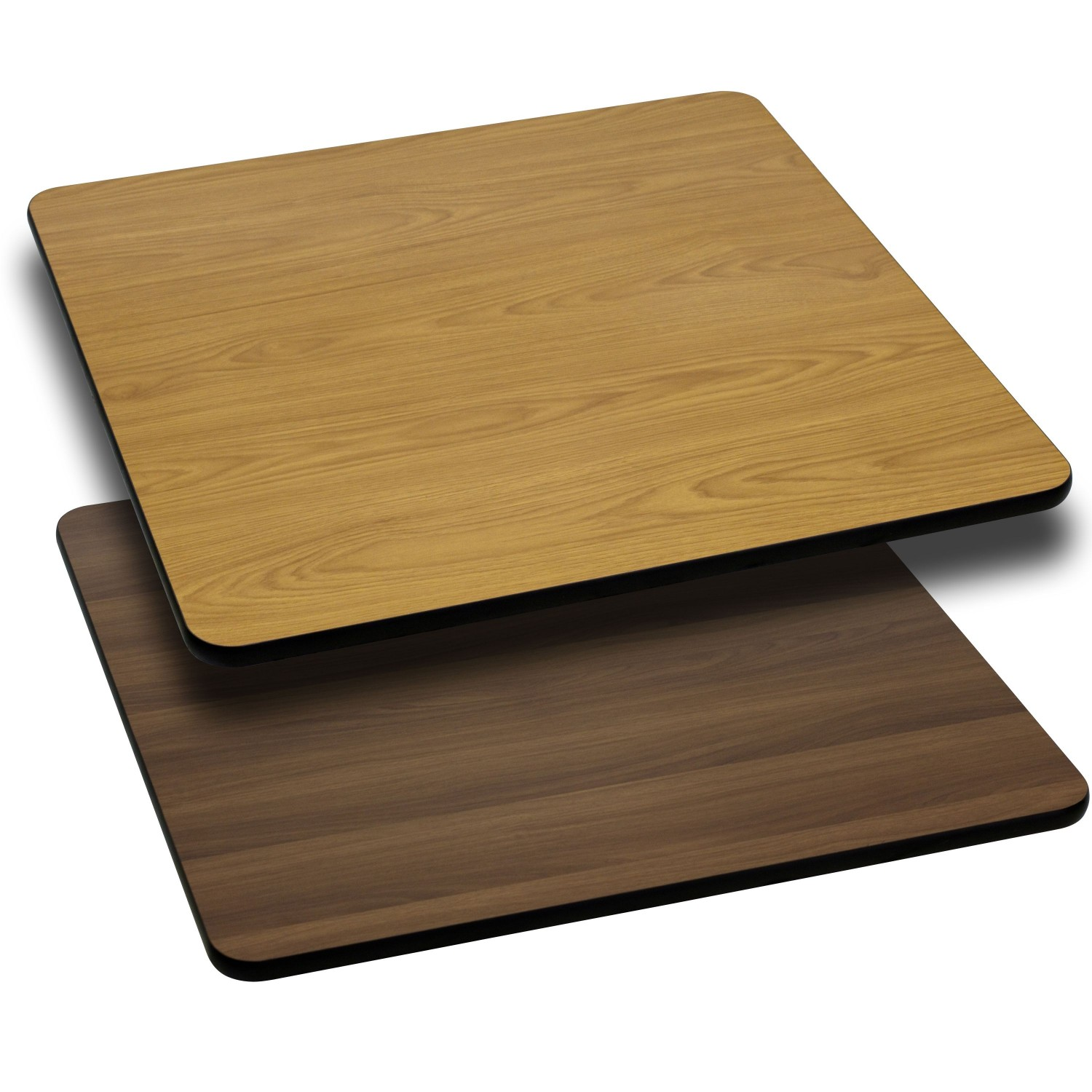 Flash Furniture XU-WNT-4242-GG Square Table Top with Natural or Walnut Reversible Laminate Top 42""