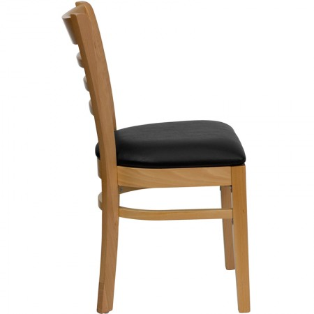 Flash Furniture XU-WOOD-BK-VYL-GG Black Vinyl Replacement Seat for Wood Chairs and Barstools