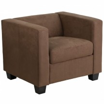 Flash Furniture Y-H901-1-CHOC-BN-GG Prestige Series Chocolate Brown Microfiber Chair