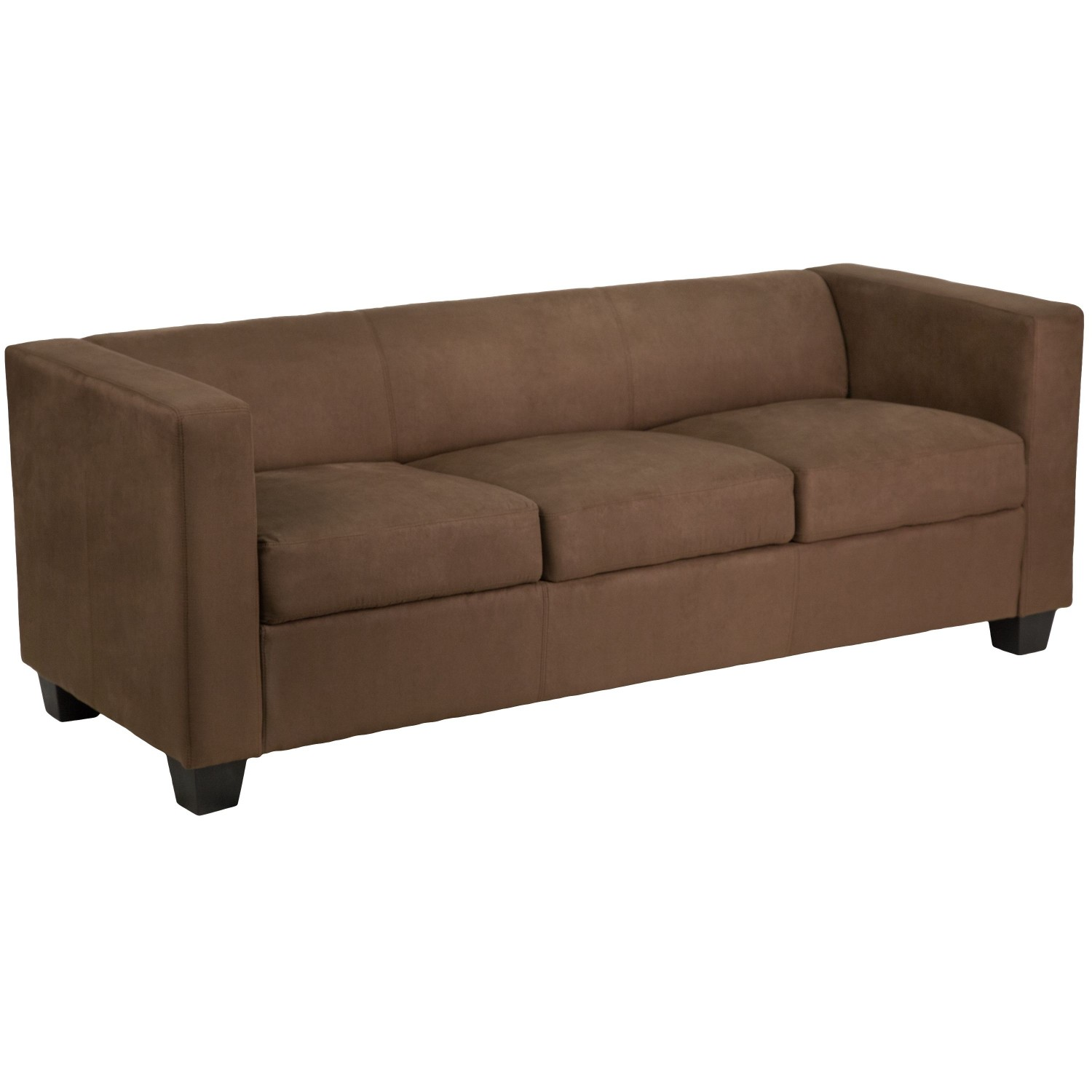 Flash Furniture Y-H901-3-CHOC-BN-GG Prestige Series Chocolate Brown Microfiber Sofa