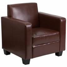 Flash Furniture Y-H902-1-BN-LEA-GG Grand Series Brown Leather Chair