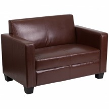 Flash Furniture Y-H902-2-BN-LEA-GG Grand Series Brown Leather Loveseat
