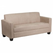 Flash Furniture Y-H902-3-MIC-BN-GG Grand Series Light Brown Microfiber Sofa