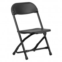 Flash Furniture Y-KID-BK-GG Kids Black Plastic Folding Chair
