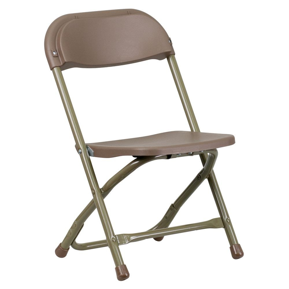 Flash Furniture Y-KID-BN-GG Kids Brown Plastic Folding Chair