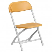 Flash Furniture Y-KID-YL-GG Kids Yellow Plastic Folding Chair