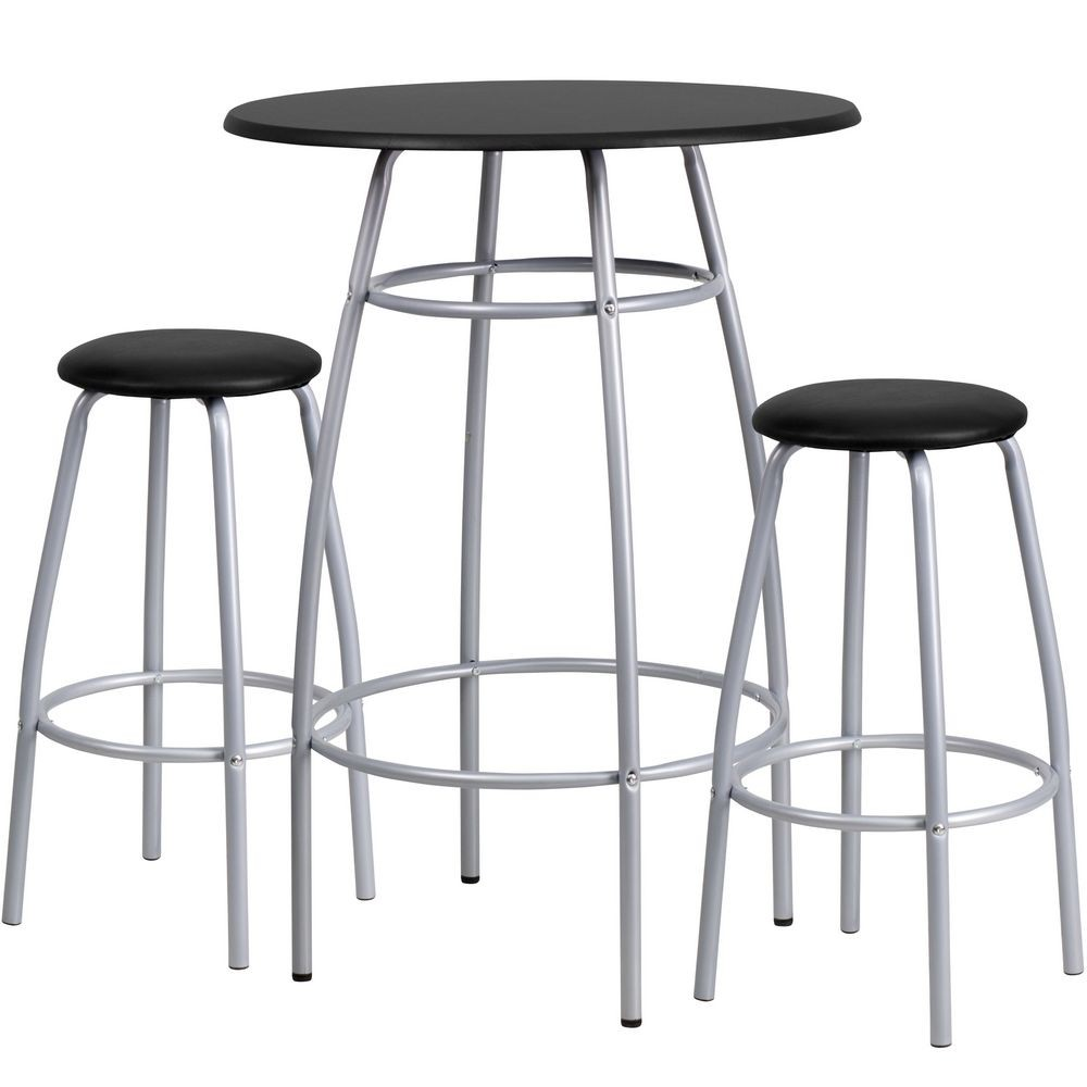 Flash Furniture YB-YJ922-GG Bar Height Table and Stool Set