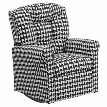 Flash Furniture YG-RR-14-GG Kids Hounds Tooth Fabric Rocker Recliner