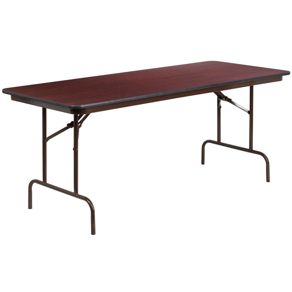 "Flash Furniture YT-3072-HIGH-WAL-GG Rectangular High Pressure Laminate Folding Banquet Table 30"" x 72"""