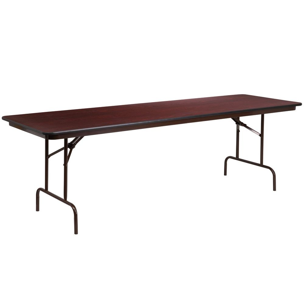 Flash Furniture YT-3096-HIGH-WAL-GG  30'' x 96'' Rectangular High Pressure Laminate Folding Banquet Table
