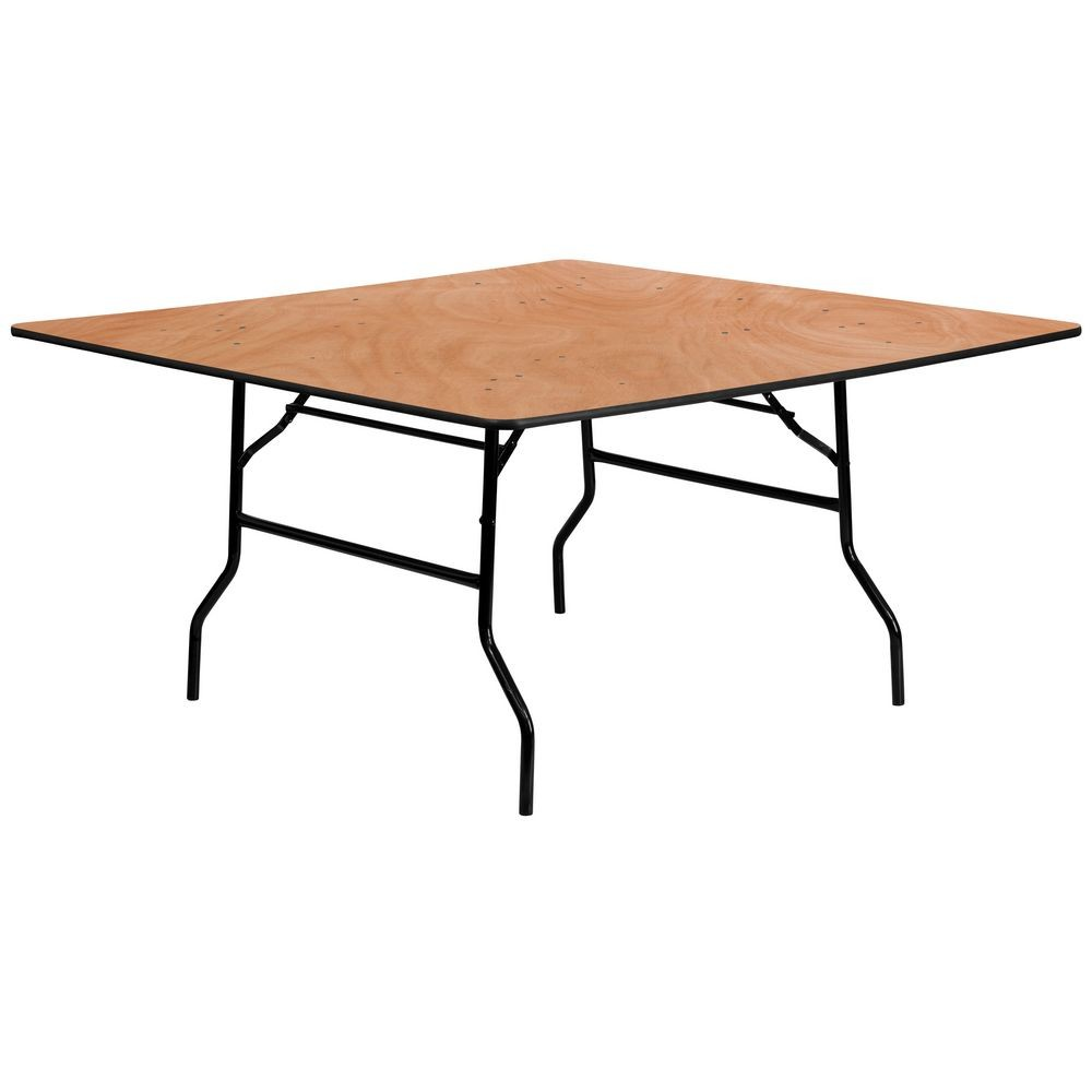 Flash Furniture YT-WFFT60-SQ-GG 60'' Square Wood Folding Banquet Table