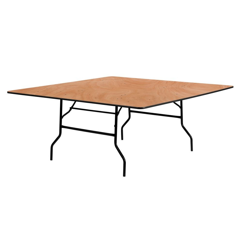 Flash Furniture YT-WFFT72-SQ-GG Square Wood Folding Banquet Table 72""