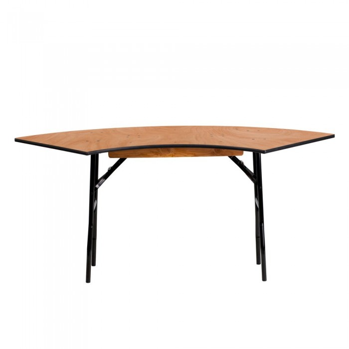 Flash Furniture YT-WSFT48-24-SP-GG Serpentine Wood Folding Banquet Table 5.5 ft. x 2 ft.