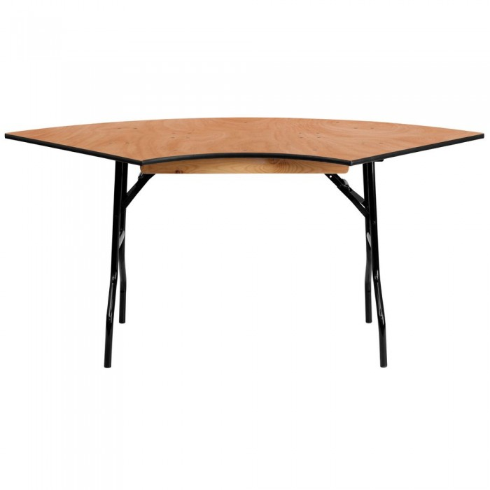 Flash Furniture YT-WSFT48-30-SP-GG Serpentine Wood Folding Banquet Table 5.5 ft. x 2.5 ft.