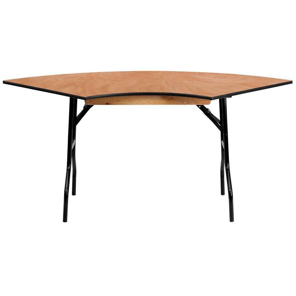 Flash Furniture YT-WSFT48-30-SP-GG 5.5 ft. x 2.5 ft. Serpentine Wood Folding Banquet Table