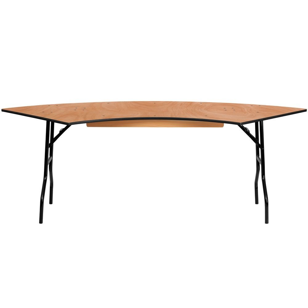Flash Furniture YT-WSFT60-30-SP-GG Serpentine Wood Folding Banquet Table 7.25 ft. x 2.5 ft.