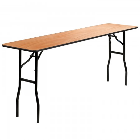 """Flash Furniture YT-WTFT18X72-TBL-GG Rectangular Wood Folding Training / Seminar Table with Smooth Clear Coated Finished Top 18"""" x 72"""""""