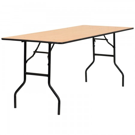 """Flash Furniture YT-WTFT30X72-TBL-GG Rectangular Wood Folding Banquet Table with Clear Coated Finished Top 30"""" x 72"""""""
