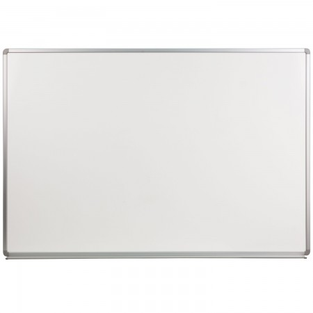 Flash Furniture YU-120X180-POR-GG Porcelain Magnetic Marker Board 6 ft. x 4 ft.