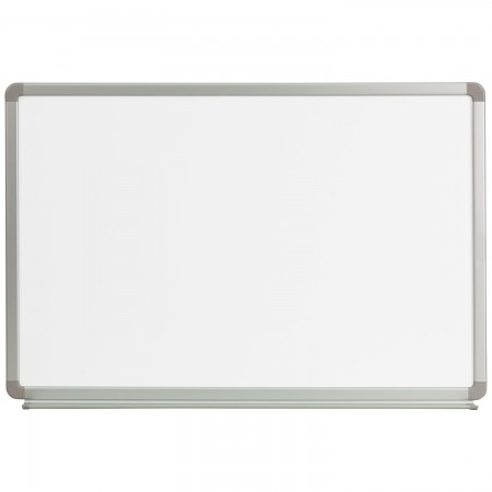 Flash Furniture YU-60X90-WHITE-GG Magnetic Marker Board, 3 ft. x 2 ft.