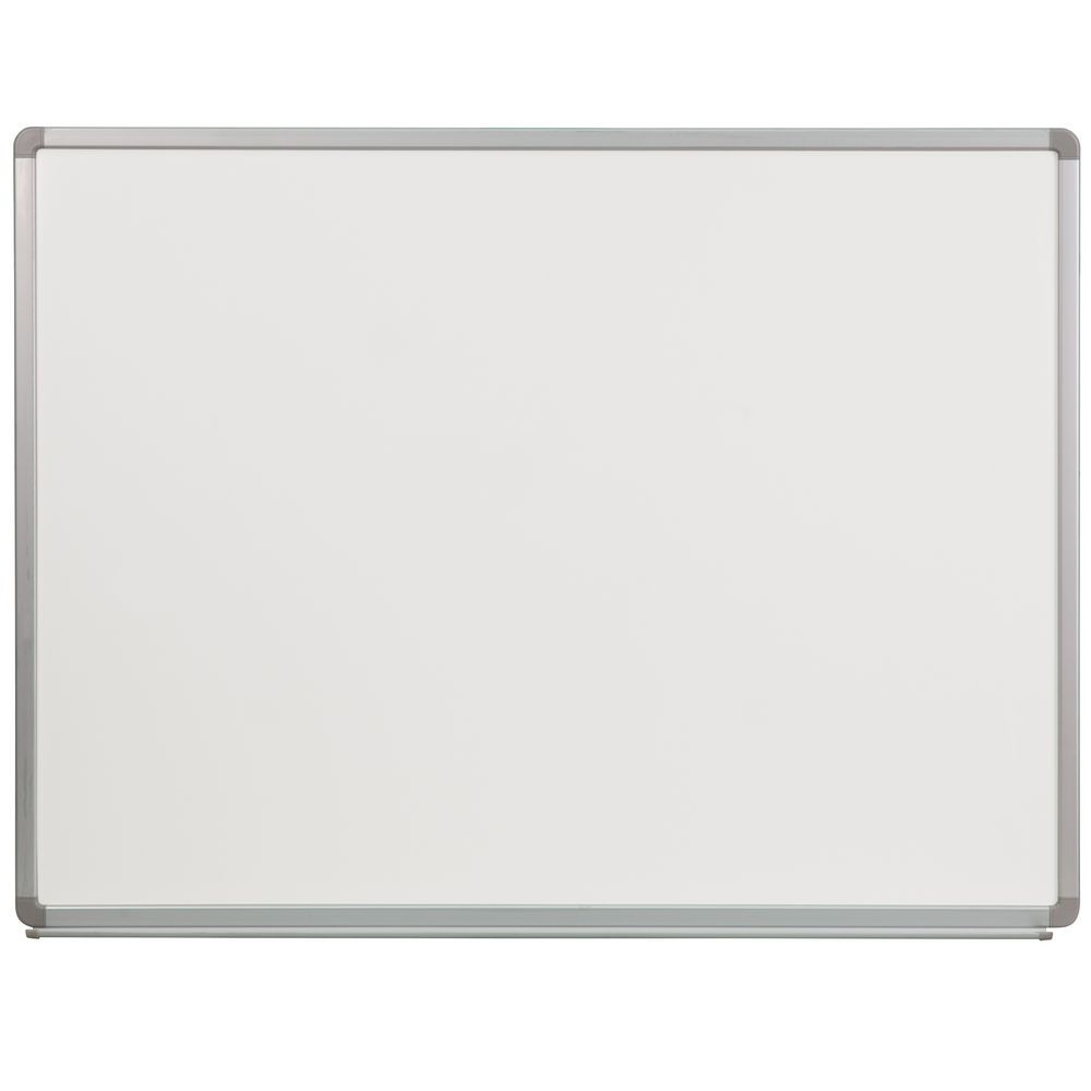 Flash Furniture YU-90X120-POR-GG Porcelain Magnetic Marker Board 4 ft. x 3 ft.