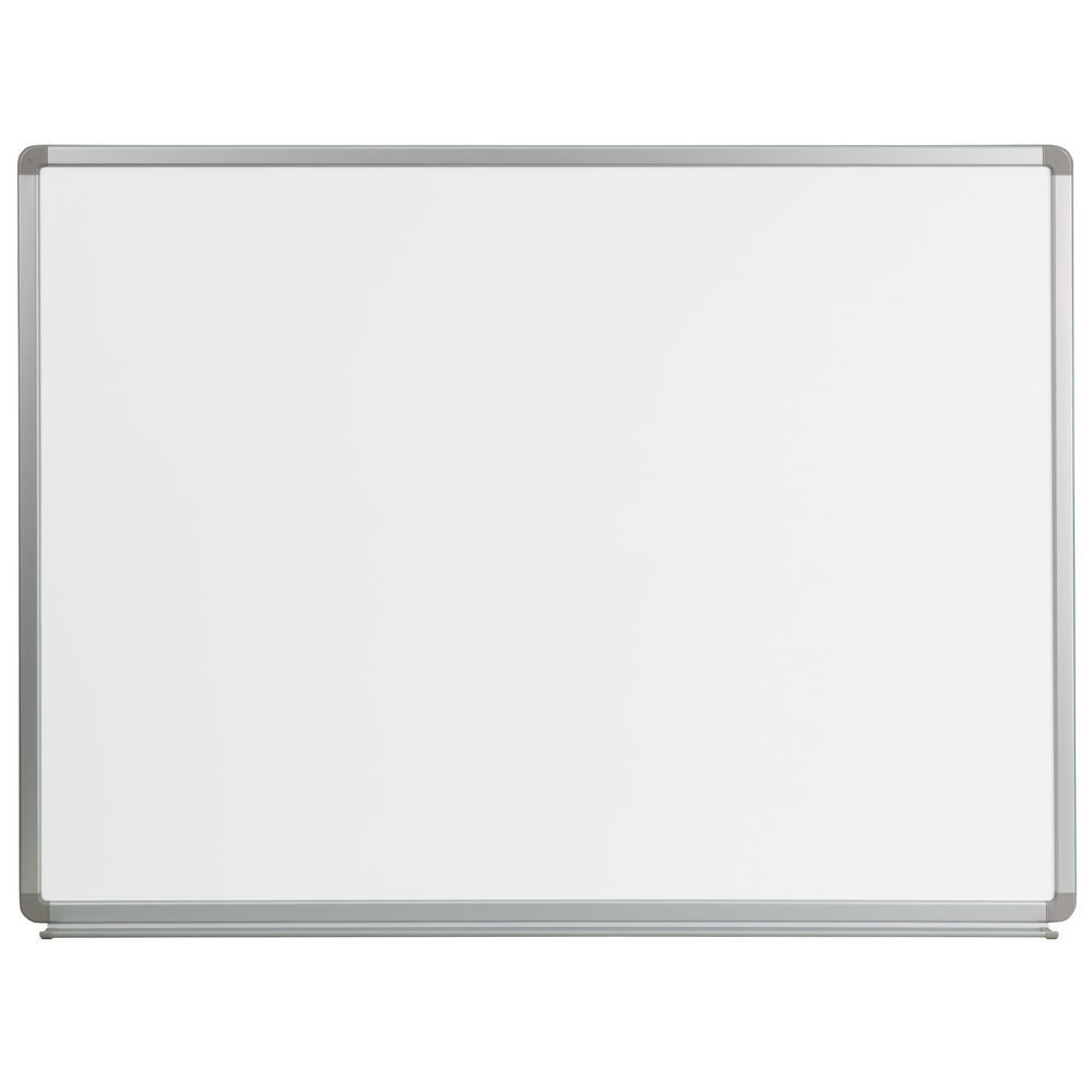 Flash Furniture YU-90X120-WHITE-GG Magnetic Marker Board 4 ft. x 3 ft.
