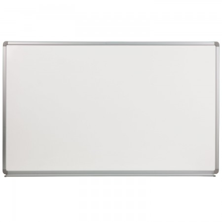 Flash Furniture YU-90X150-POR-GG Porcelain Magnetic Marker Board 5 ft. x 3 ft.