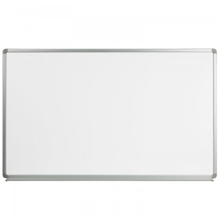 Flash Furniture YU-90X150-WHITE-GG Magnetic Marker Board 5 ft. x 3 ft.