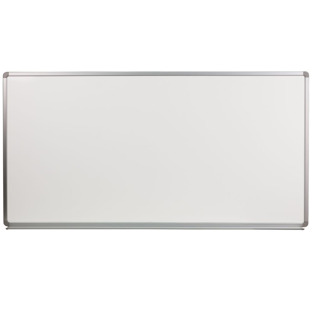 Flash Furniture YU-90X180-POR-GG Porcelain Magnetic Marker Board 6 ft. x 3 ft.