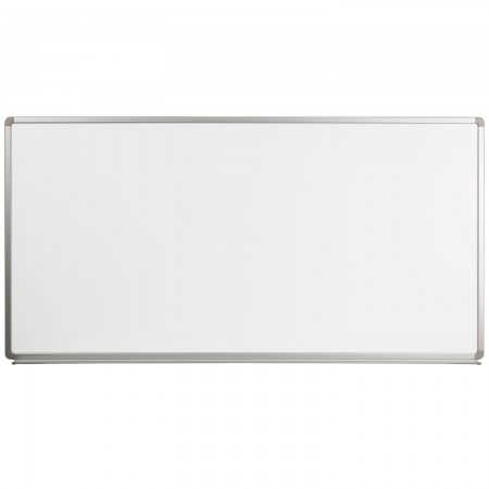 Flash Furniture YU-90X180-WHITE-GG Magnetic Marker Board, 6' ft. x 3' ft.