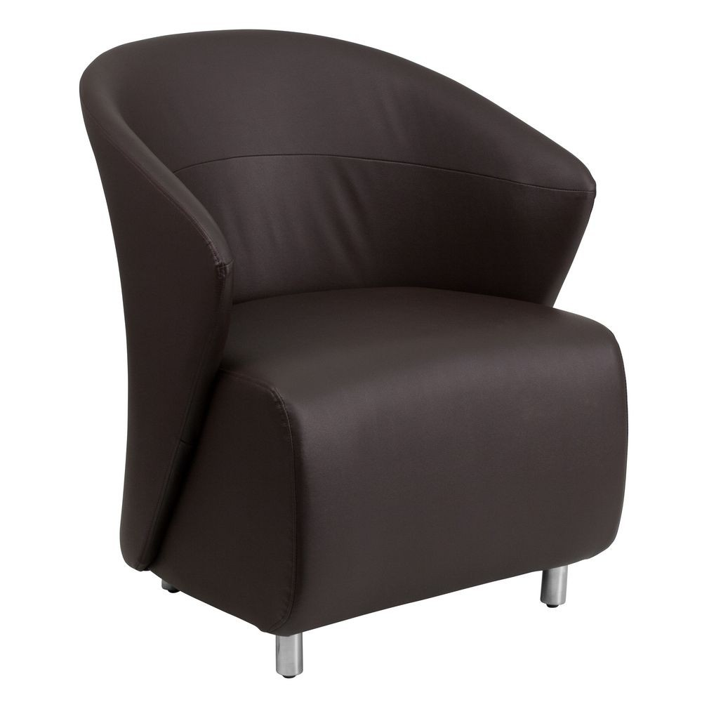 Flash Furniture ZB-2-GG Dark Brown Leather Reception Chair