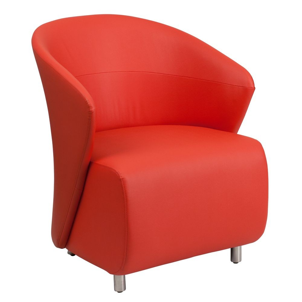Flash Furniture ZB-6-GG Red Leather Reception Chair