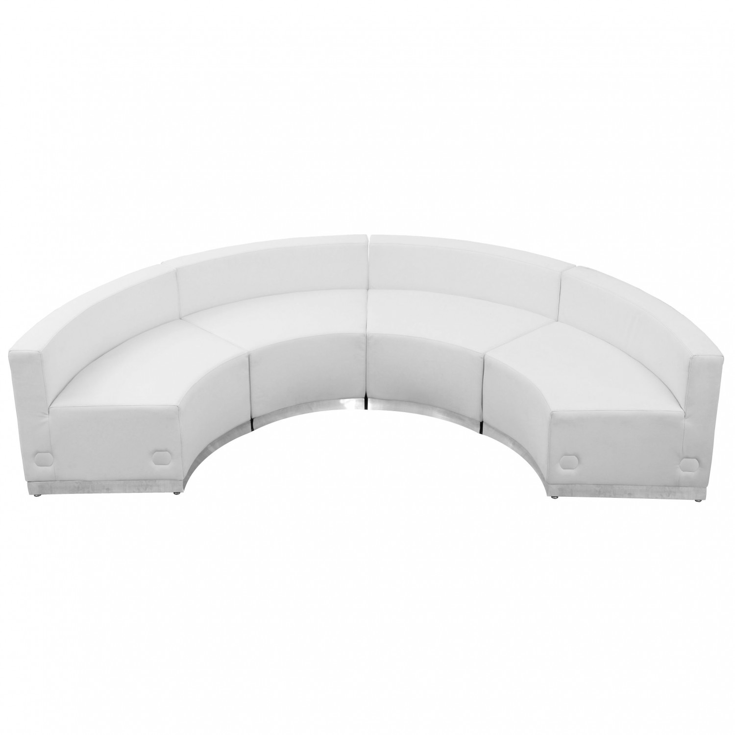 Flash Furniture ZB-803-480-SET-WH-GG HERCULES Alon Series White Leather Reception Configuration, 4 Piece