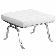 Flash Furniture ZB-FLASH-801-OTTO-WHITE-GG HERCULES Flash Series Leather Ottoman, White