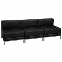 Flash Furniture ZB-IMAG-MIDCH-3-GG HERCULES Imagination Series Black Leather Lounge Set, 3 Piece