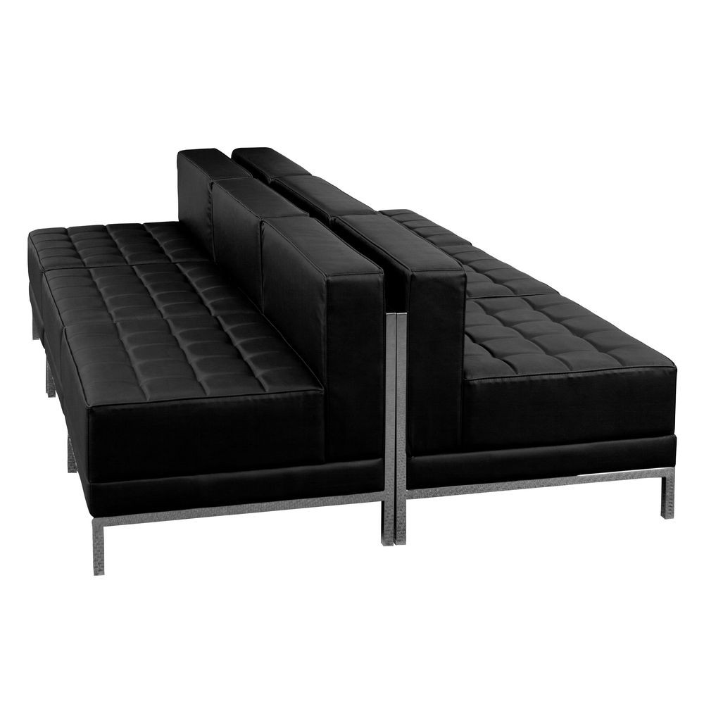 Flash Furniture ZB-IMAG-MIDCH-6-GG HERCULES Imagination Series Black Leather Lounge Set, 6 Piece