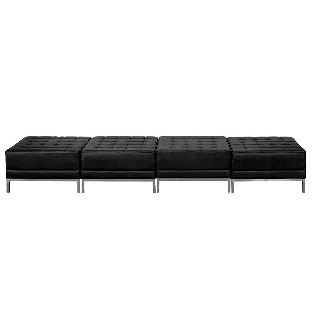 Flash Furniture ZB-IMAG-OTTO-4-GG HERCULES Imagination Series Black Leather Four Seat Bench