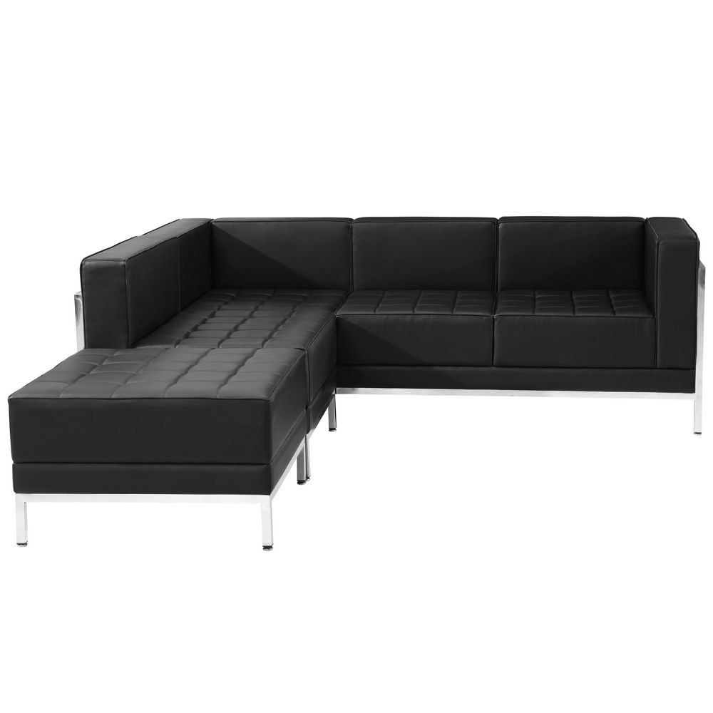 Flash Furniture ZB-IMAG-SECT-SET9-GG HERCULES Imagination Series Black Leather Sectional Configuration, 3 Piece/
